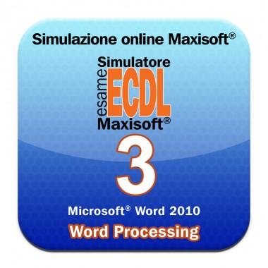 Immagine tratta dal simulatore online esame NUOVA ECDL Modulo 3 Word Processing [Microsoft Word 2010]