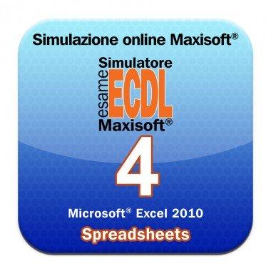Simulazioni online esame NUOVA ECDL Modulo 4 Spreadsheets [Microsoft Excel 2010]