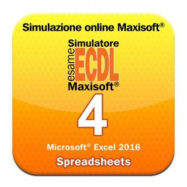 Simulazioni esame NUOVA ECDL Modulo 4 Spreadsheets [Microsoft Excel 2016]