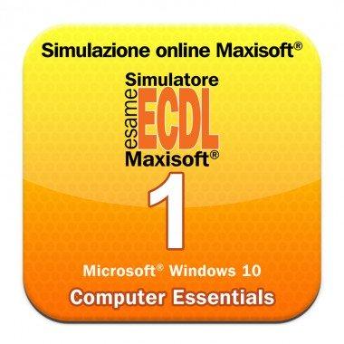 Simulazioni NUOVA ECDL Modulo 1 Computer Essentials [Microsoft Windows 10]