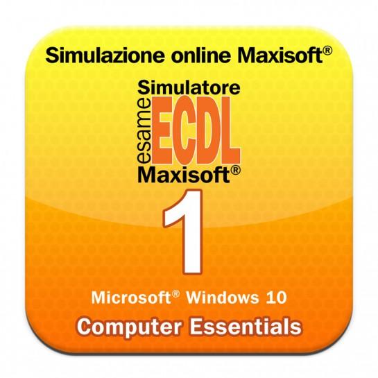 Simulazioni esame NUOVA ECDL Modulo 1 Computer Essentials [Microsoft Windows 10]